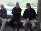 Andrew Christey, our guide & John Macaulay at Cave Tour