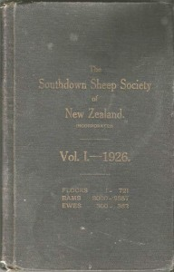 The Southdown Sheep Society of New Zealand Flockbook Vol 1