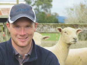 24-year-old Corey Prouting is one of the youngest Southdown stud breeders in New Zealand.